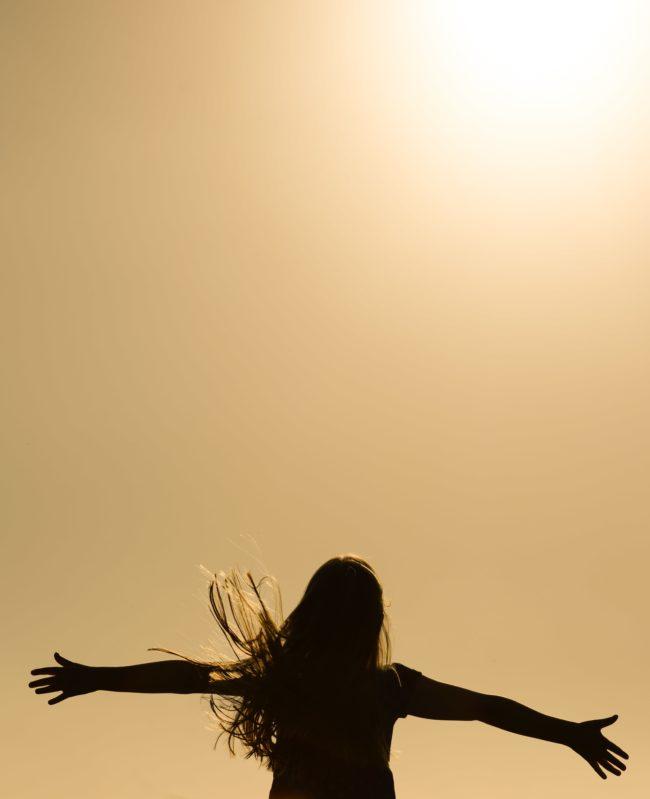 girl in the sun